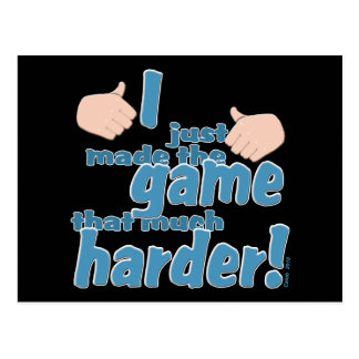 I Game Harder! Postcard
