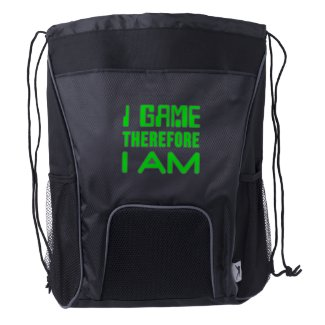 I Game Therefore I AM Drawstring Backpack