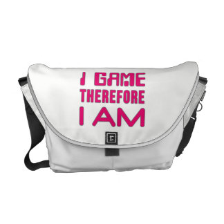 I Game Therefore I AM Gamer Girl Courier Bag