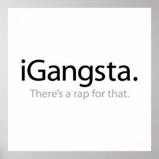 i Gangsta - hay un rap para eso Póster