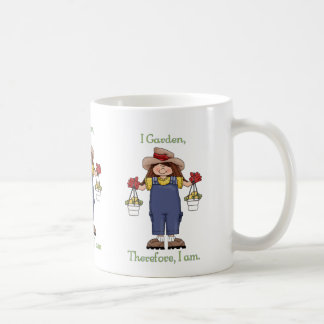 I Garden, Therefore I Am - Gardening Tees and Gift Classic White Coffee Mug