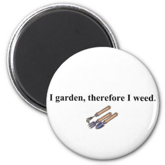 I Garden Therefore 2 Inch Round Magnet