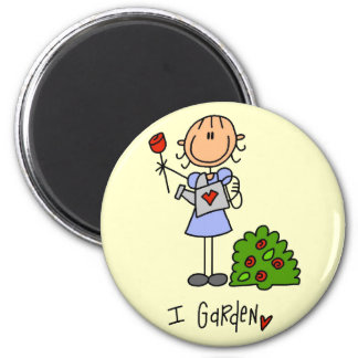 I Garden Tshirts and Gifts 2 Inch Round Magnet