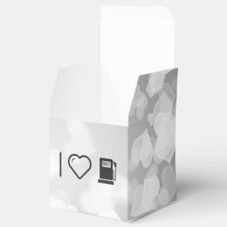 I gasolinas ecológicas del corazón cajas para detalles de boda