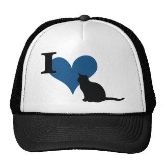 I gato del gatito del corazón gorro de camionero