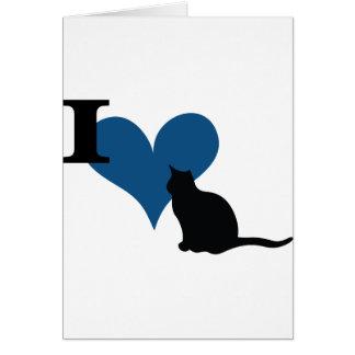 I gato del gatito del corazón tarjeta de felicitación