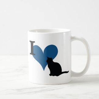 I gato del gatito del corazón taza de café