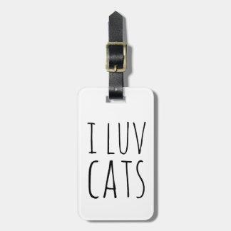 I gatos de Luv Etiquetas Para Equipaje