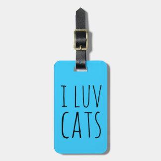 I gatos de Luv Etiqueta De Maleta