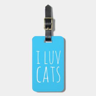 I gatos de Luv Etiquetas Maleta