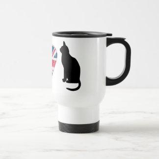 I gatos del corazón con diseño del corazón de Unio Tazas