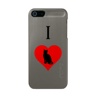 I gatos del corazón funda para iPhone 5 incipio feather shine