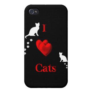 I gatos del corazón iPhone 4/4S carcasas