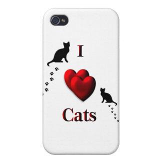 I gatos del corazón iPhone 4/4S funda