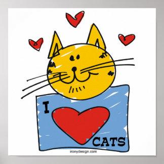 I gatos del corazón póster