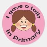 I Gave a Talk Round Stickers