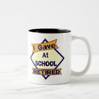 I Gave At School Two-Tone Coffee Mug