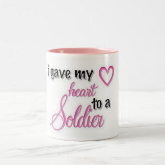 """""""I Gave My Heart To A Soldier"""" Two-Tone Coffee Mug"""