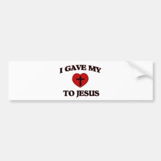 I Gave My (Heart) To Jesus Bumper Sticker