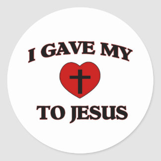 I Gave My (Heart) To Jesus Classic Round Sticker