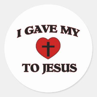 I Gave My (Heart) To Jesus Classic Round Sticker