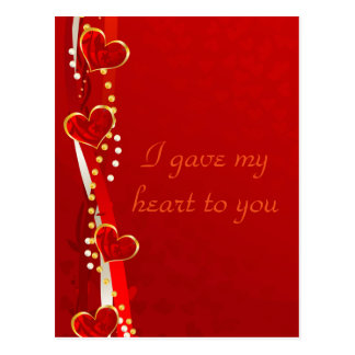 I gave my heart to you postcard