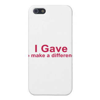 I Gave to Make a Difference iPhone SE/5/5s Cover