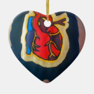 I gave you my heart ceramic ornament
