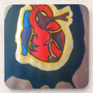 I gave you my heart coaster