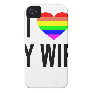 I GAY LESBIAN.png del AMOR del ARCO IRIS del HOGAR iPhone 4 Protectores