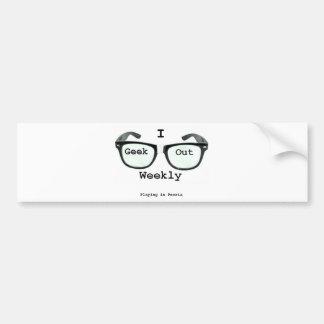 I Geek Out Weekly Version 2 Car Bumper Sticker