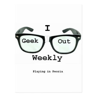 I Geek Out Weekly Version 2 Post Cards