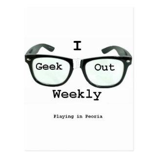 I Geek Out Weekly Version 2 Postcard