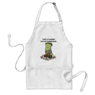 I get a charge out of Christmas Adult Apron