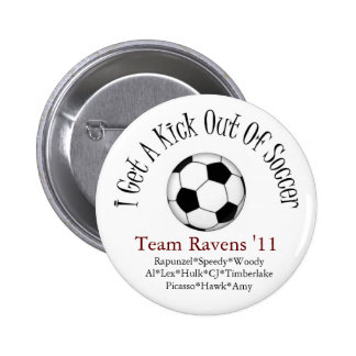 i get a kick out of soccer pinback button