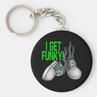 I Get Funky Basic Round Button Keychain