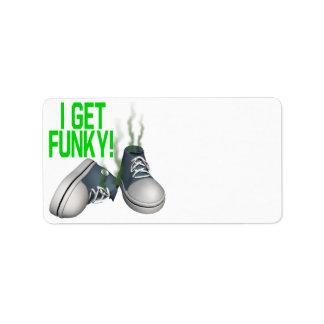 I Get Funky Custom Address Label