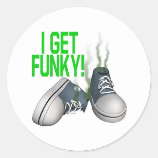 I Get Funky Classic Round Sticker