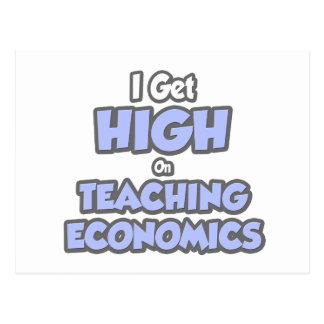 I Get High On Teaching Economics Postcard