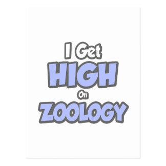 I Get High On Zoology Postcards