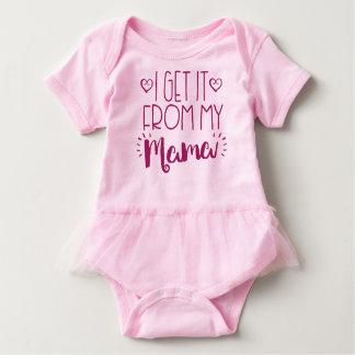 I Get It From My Mama Tutu Baby Dress