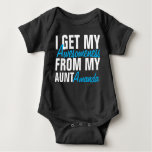 I Get My Awesomeness From My Aunt (The Aunt Name) Baby Bodysuit