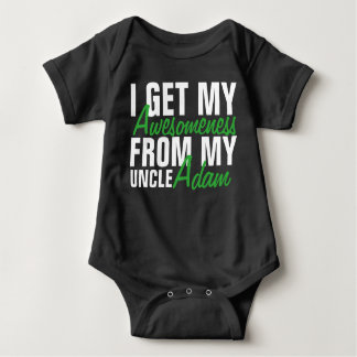 I Get My Awesomeness From My Uncle-The Uncle Name. Baby Bodysuit