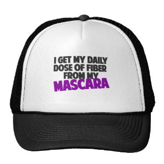I get my daily dose of fiber from my Mascara Trucker Hat