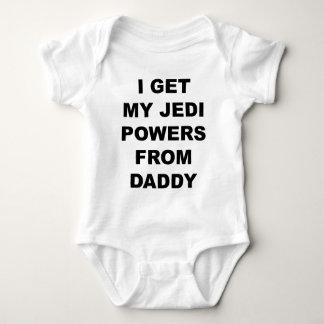 I Get My Jedi Powers From Daddy Baby Bodysuit