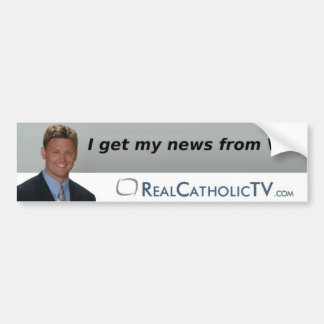 I Get My News From Vic! Bumper Sticker