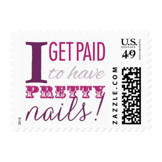 I Get Paid to Have Pretty Nails Stamps