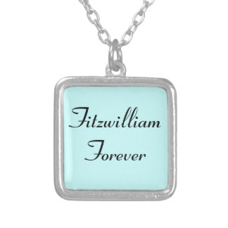 I Get to Call Mr. Darcy Fitzwilliam Austen Quote Square Pendant Necklace