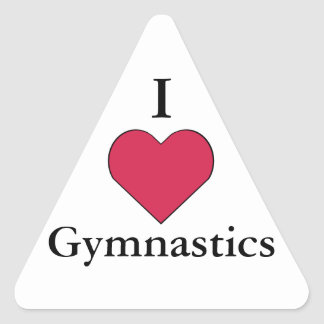 I gimnasia del corazón pegatina de triangulo