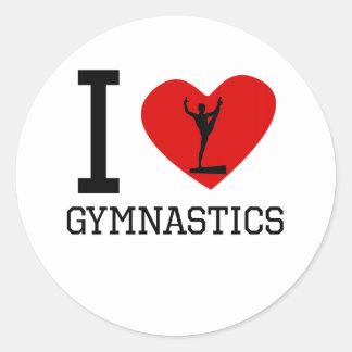 I gimnasia del corazón etiquetas redondas